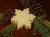 Pure Beeswax Floating Snowflake Candle