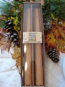 Beeswax Taper Candles - pair of 2 10 inch candles gift boxed