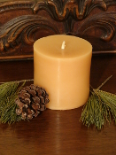 "Pure Beeswax Pillar - 3"" x 3"""